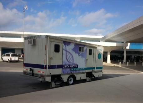 Covid 19 Mobile Test Unit at Cancun Airport